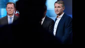 Der amtierende Ministerpräsident Bodo Ramelow (links) und sein AfD-Herausforderer Björn Höcke.