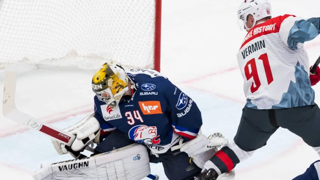 Die ZSC Lions reagieren auf die Verletzung des finnischen Goalies Joni Ortio (im Bild) und verpflichten einen weiteren ausländischen Keeper
