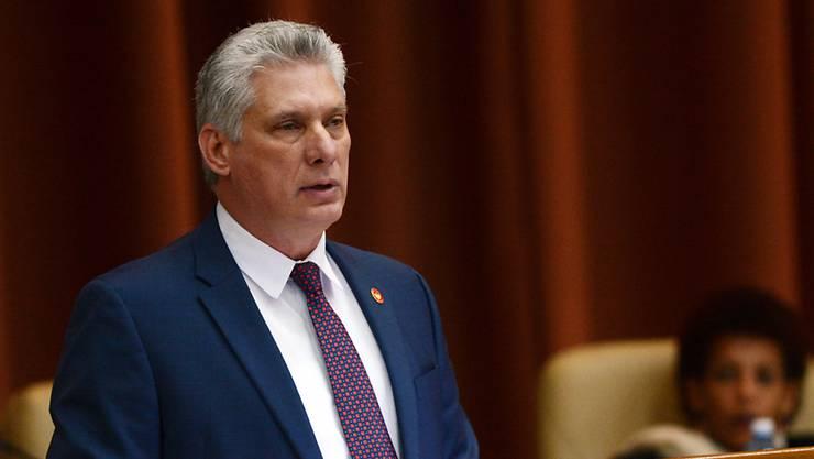 Der kubanische Präsident Miguel Diaz-Canel hat zwei Minister entlassen. (Archivbild)