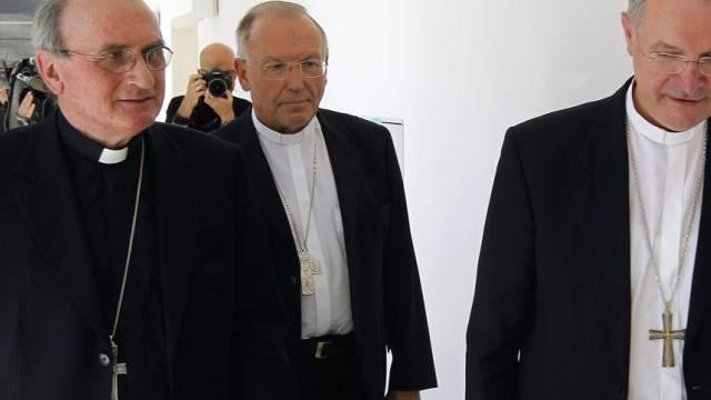 Die beiden Erzbischöfe Anton Stres (M) und Marjan Turnsek (r)