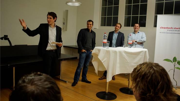Von links: Samuel Emch, Michael Siragusa, Noah Heynen und Adrian Neuenschwander.