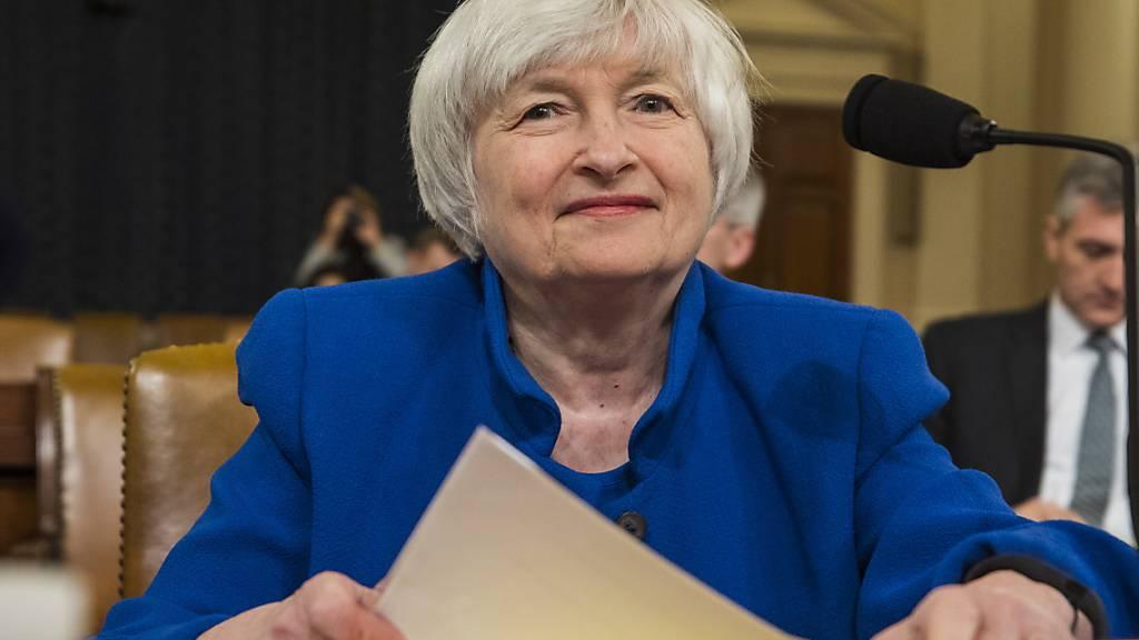 Die USA streben laut der designierten US-Finanzministerin Janet Yellen keinen schwächeren Dollar-Wechselkurs an. (Archivbild)