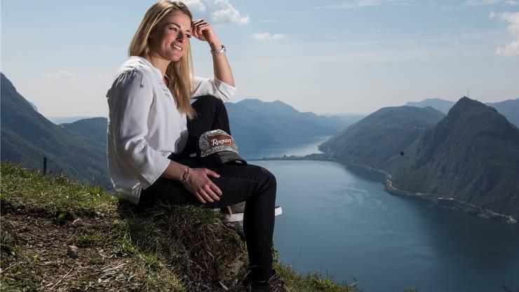 Lara Gut-Behrami beschäftigt die Zusammenarbeit mit Swiss Ski – selbst, wenn die Kulisse im Tessin wunderbar ist. Alessandro Crinari/Keystone