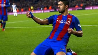 Luis Suarez brachte Barcelona auf Kurs