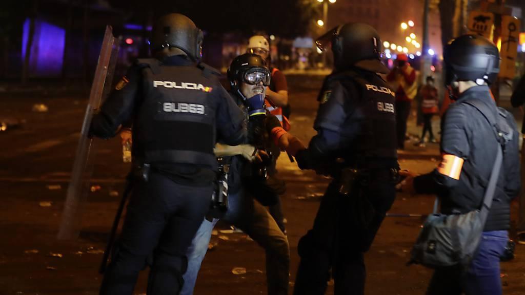 Ausschreitungen in Barcelona reissen nicht ab