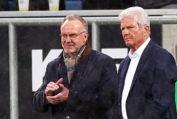 Karl-Heinz Rummenigge (l.) stand Dietmar Hopp zur Seite.