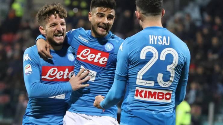 Die Napoli-Spieler können in Cagliari gleich fünfmal jubeln