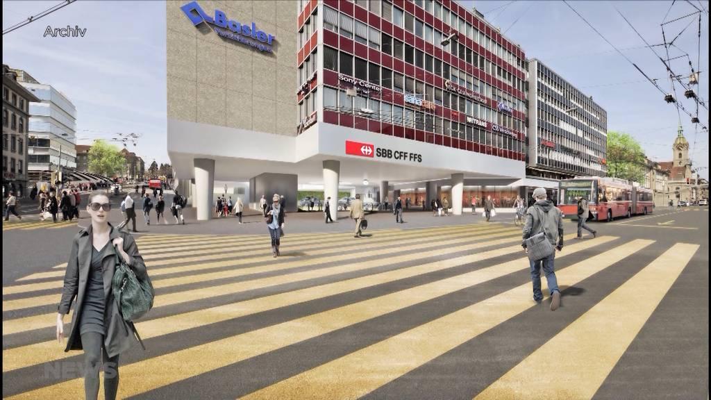 """Projekt """"Zukunft Bahnhof Bern"""" sorgt für rote Köpfe"""