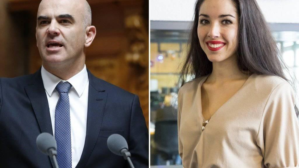 Man würde es nicht denken, aber Bundesrat Alain Berset und Miss Schweiz Lauriane Sallin haben eine Menge gemeinsam (Archiv).