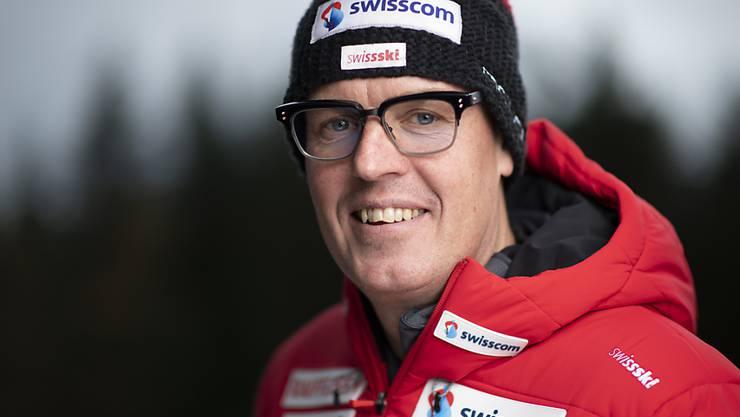"""Markus Segessenmann, Disziplinenchef Biathlon, spricht von der """"mit Abstand besten Saison im Schweizer Biathlon"""""""