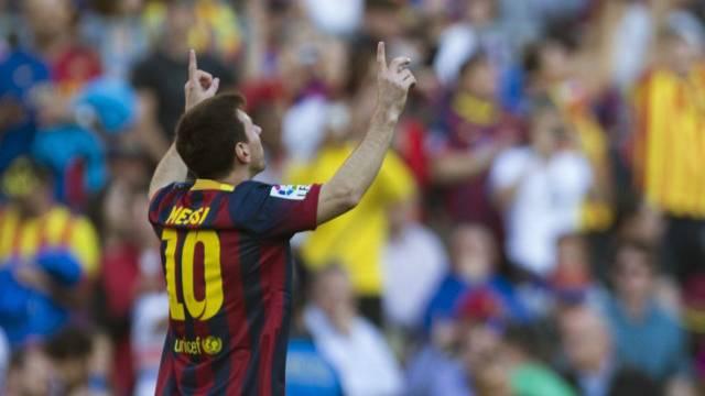 Lionel Messi dreifacher Torschütze für Barcelona