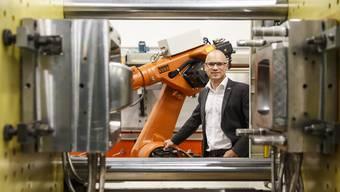 Freut sich über die gute Auftragslage Andreas Villiger, CEO und Mitinhaber der Mythentec AG in Biberist.