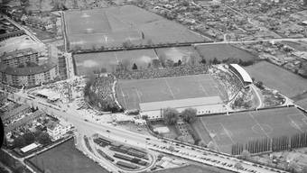 Hardturm 1954: In den 40er- und 50er-Jahren teilten sich GC und FCZ die Spielstätte an der Hardturmstrasse jahrelang.