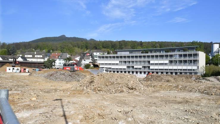 Bauplatz Dünnernbogen: Hier entsteht in den kommenden zweieinhalb Jahren das Betriebsgebäude der a.en.