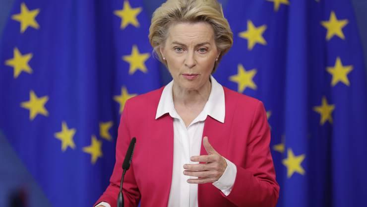 """""""Zügig vorankommen"""": EU-Kommissionspräsidentin Ursula von der Leyen möchte, dass der Bundesrat beim Rahmenabkommen nun vorwärts macht."""