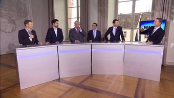 Elefantenrunde der Aargauer Parteipräsidenten: Die wichtigsten Aussagen der Gewinner und Verlieren der Wahlen.