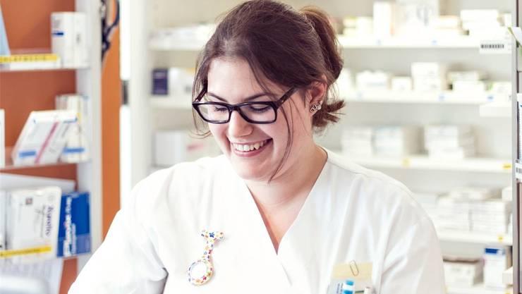 Marina Christen bei ihrer Arbeit im Kantonsspital Baden.