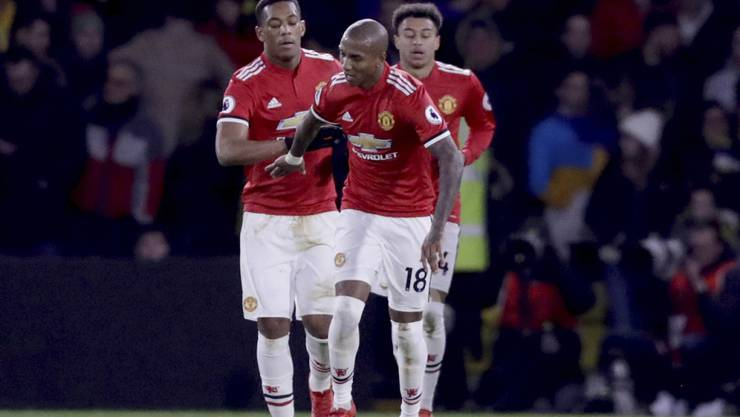 Torschützen für ManUnited: Anthony Martial (li.) und Ashley Young