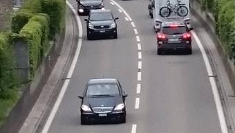 Die Umfahrungsstrasse in Klingnau.