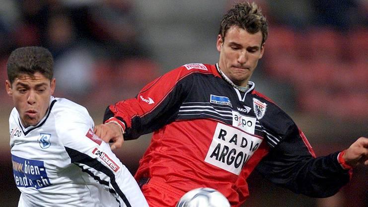 Einst Spieler beim FC Aarau, nun Berater für kränkelnde Fussballer: Mario Eggimann (rechts).