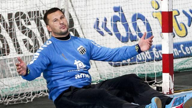 Konnte am Schluss als Sieger lachen: Pfadi-Goalie Vaskevicius