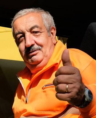 Baggerfahrer Rocco Masullo.