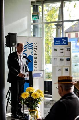 Stephan Attiger, Regierungsrat, bei seiner Rede an der Preisverleihungsfeier