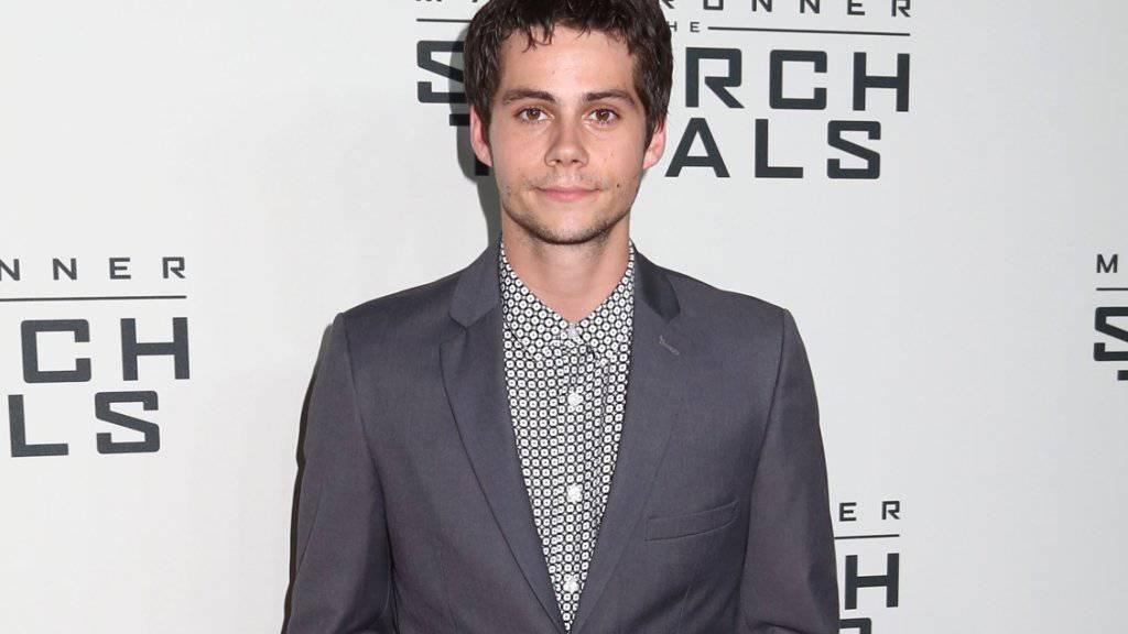 Dylan O'Brien letzten Herbst bei der Premiere des 2. «Maze-Runner»-Film. Auf dem Set zu Teil drei ist er am Freitag verunfallt (Archiv).