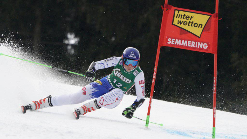 Petra Vlhova erstmals auch im Riesenslalom top