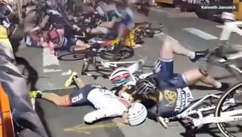 Keine Chance: Die Teilnehmerinnen fuhren ohne Bremsen.