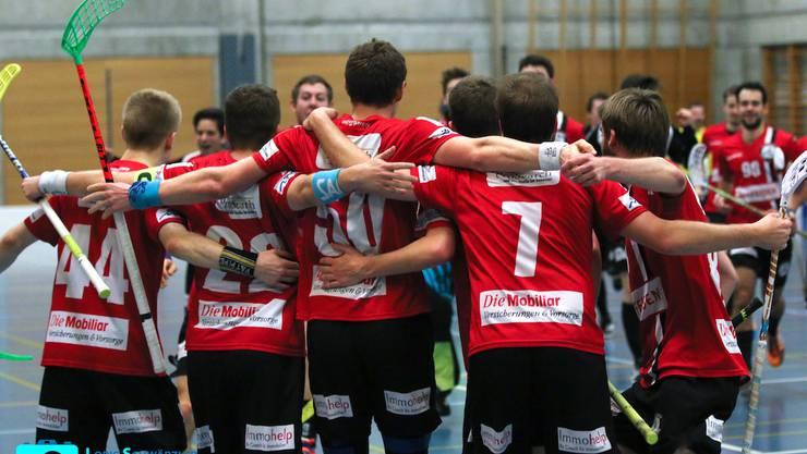 Die Herren von Unihockey Basel Regio können mit einem Sieg am Samstag den Aufstieg in die NLB perfekt machen.