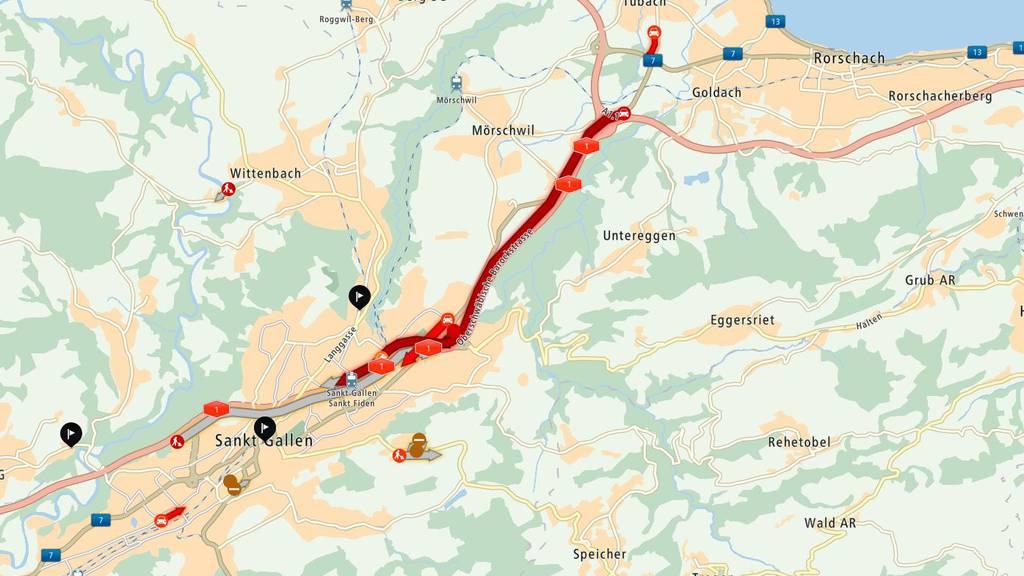 Unfall zwischen St.Fiden und Neudorf.