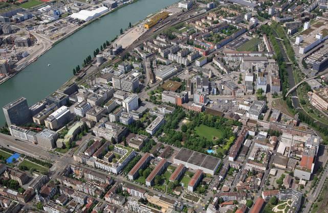 Luftbild vom künftigen Klybeckareal