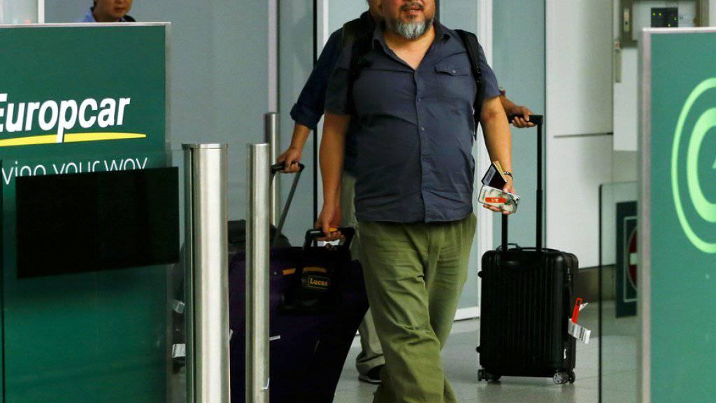 Ai Weiwei ist wieder unterwegs: Am Montag nutzte der chinesische Künstler die neue alte Freiheit und besuchte seine Arbeitskollegen Herzog & de Meuron in Basel (Archiv)