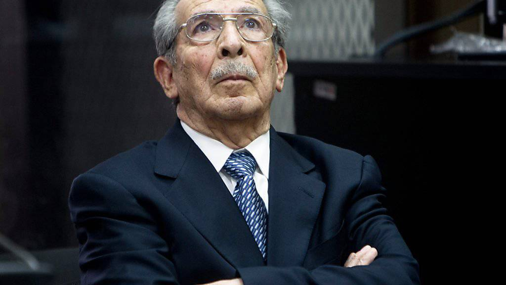 Ex-Diktator Rios Montt, hier beim Prozess von 2013, soll erneut der Prozess gemacht werden, allerdings wird der demente 89-Jährige nicht persönlich vor Gericht erscheinen müssen. (Archivbild)