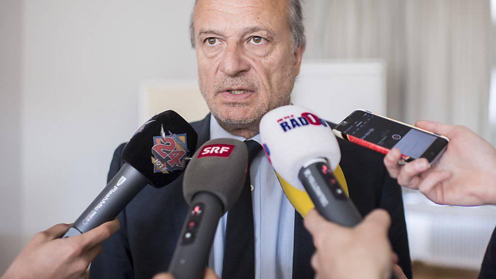 Er will im nächsten Jahr der neue Stadtpräsident von Zürich werden: der bekannte FDP-Stadtrat Filippo Leutenegger. (Archivbild)