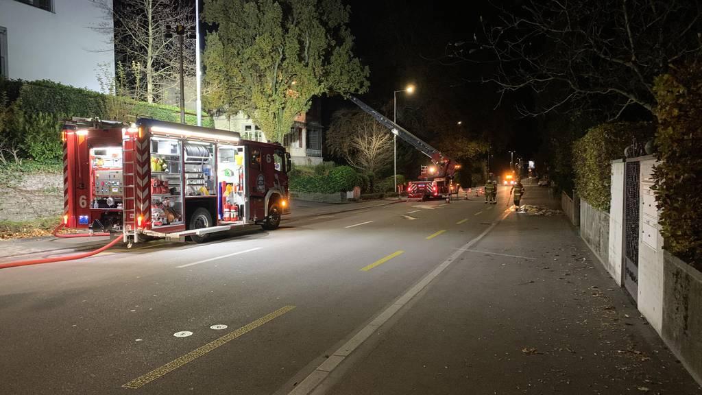 Brand eines denkmalgeschützten Gebäudes in Zug
