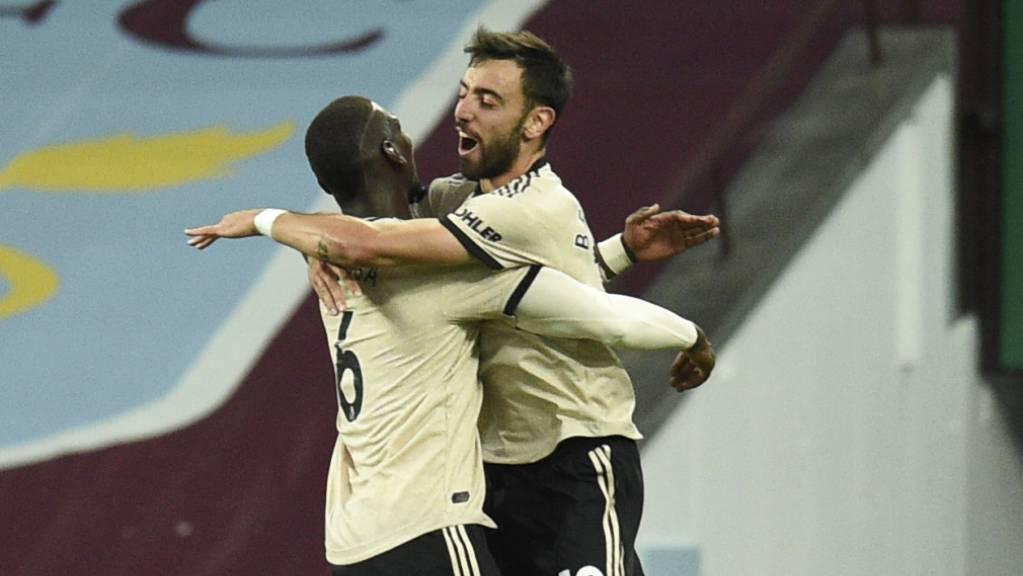 Paul Pogba (links) und Bruno Fernandes entfachen bei Manchester United Glücksgefühle