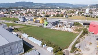 Turnzentrum Lenzburg: Auf dieser Fläche soll das neue Zuhause der Aargauer Turnerinnen und Turner entstehen.