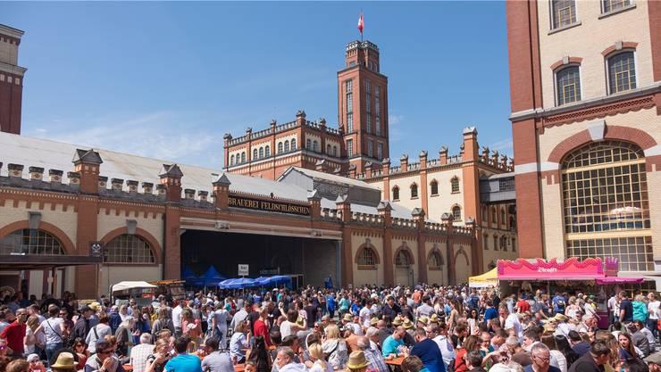 11200 Personen feierten im Bierschloss den Tag des Schweizer Bieres. zvg