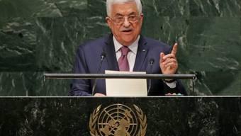 Palästinenserpräsident Abbas vor der UNO-Vollversammlung