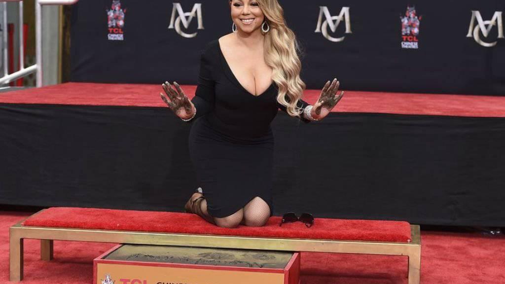 Mariah Carey verewigt sich in Hollywood