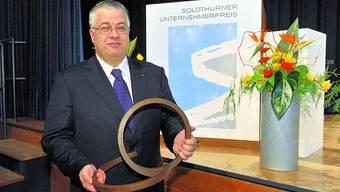 Ausgezeichnet: Felix Kunz erhielt im Januar 2009 den Solothurner Unternehmerpreis.
