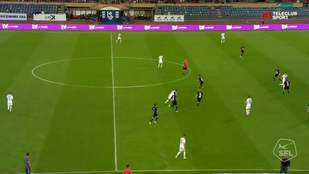 Zeqiri gibt Aarau in der 79 Minute den Gnadenstoss mit seinem Treffer zum 4:0