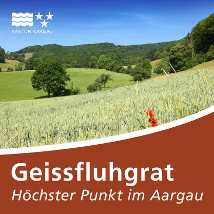 Tourismustafel Geissfluhgrat, Höchster Punkt im Aargau