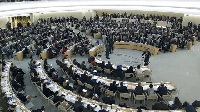 Wo der Menschenrechtsrat tagt: UNO-Sitz in Genf (Archiv)