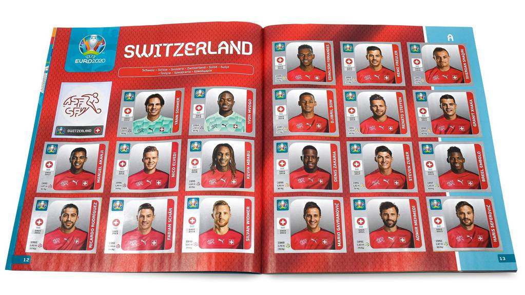 Schweizer Nati Panini 2020