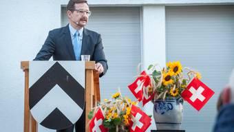 Thomas Greminger bei einer 1. August-Rede.