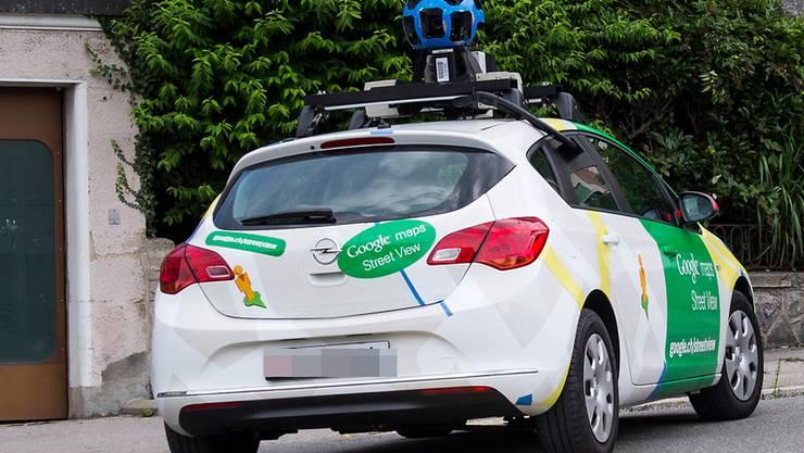 Ein Google-Streetview-Fahrzeug.
