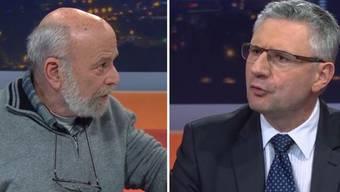 Martin Uebelhart von der IG Solidarität gegen Gemeindeammann Andreas Glarner